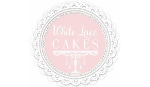 white lace cakes